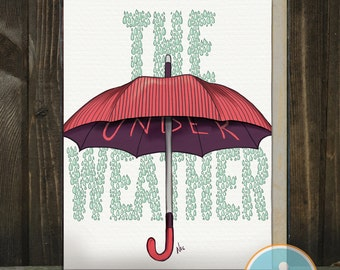 Under the Weather: a get well card