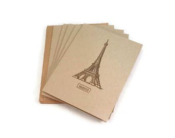 Thank You Cards, Thank You Card Set, Eiffel Tower, Merci, Blank Note Cards, Thank You Notes,  Wedding Thank You, Blank Thank You Cards