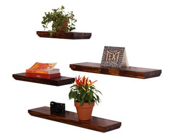 Routed Edge Floating Shelves (Set of 4) 100% countersunk hidden brackets