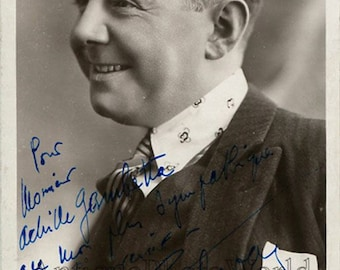 Pierre Etchepare French actor antique hand signed photo postcard