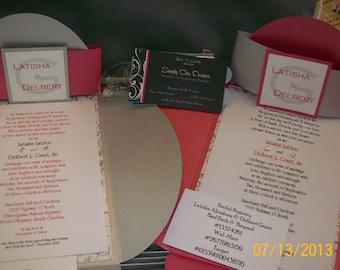 Simply Chic Petal Layered Wedding  Invitation Set