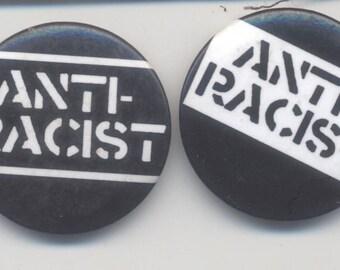 Anti-Racist pin