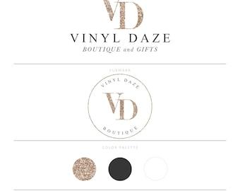 Rose Gold Logo Glitter Logo Vinyl Logo Boutique Logo Photography Logo Branding Package Lash Logo Microblading Logo Design Realtor Logo MUA