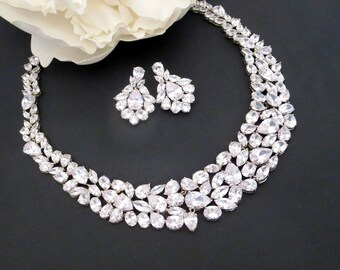 Bridal jewelry set Etsy