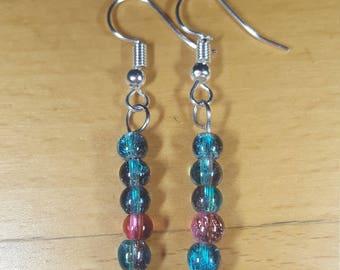 4mm glass Pearl Earrings