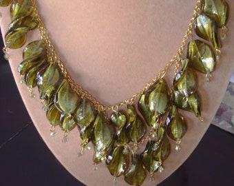 Springtime Sonnet Glass Necklace