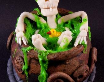 Bathing Skeleton (in a cauldron full of ooze)
