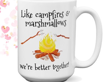 Personalized Campfires and Marshmallows Coffee Mug  | Girlfriend Gift | Mother's Day Gift | Birthday Gift | Camping Couple Gift | Camping