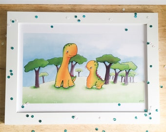 Cheeky Stegosaurus - A4 Print for children and dinosaur fans everywhere!
