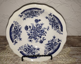 Blue and White  Bowls,  Set of 5 Blue and White Bowls