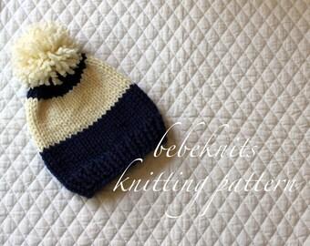 Bebeknits Simply Slouchy Baby Hat Knitting Pattern