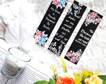 Bookmark black quotes