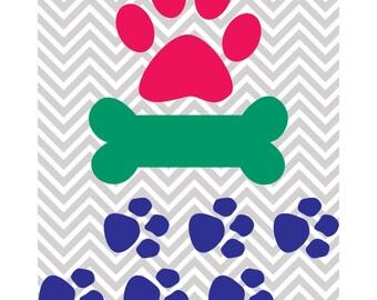 Assorted Dog Design, Dog Bone, Paw Prints SVG, DXF, JPG, Studio 3, Cricut, Silhouette Studio, Die Cut, Instant Download of svg, dxf & jpeg