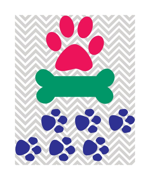 Download Assorted Dog Design Dog Bone Paw Prints SVG DXF JPG