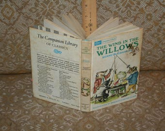 "Vintage Kenneth Grahame, ""The Wind In the Willows"" / Grosset/Dunlap 1966, HC!  254 Pages Illustrated!"