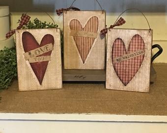 Valentines,Valentine Sign,Valentine Ornaments,Valentines Day Decor,Valentine Gift,Primitive Valentine Decor,Rustic Valentine Decor