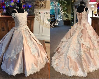 Poetic Promises... A Beautiful Flower Girl and Special Occasion Princess Dress
