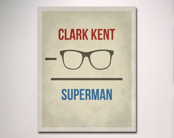 Geekery Typography / Superman Arithmetic Poster / Wall Art / Multiple Sizes Available