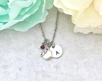 Teacher Appreciation Jewelry - Personalized Teacher Jewelry - Apple Necklace for Teacher - Personalized Gifts for Teacher Appreciation