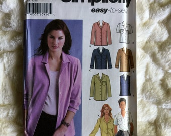 Simplicity Fashion Misses 11 piece Shirt in three lengths #5455 Sewing Pattern UC FF size 14-16-18-20-22