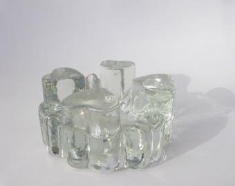 Vintage glass warmer Georgshütten, beverage warmer, food warmer, tea warmer