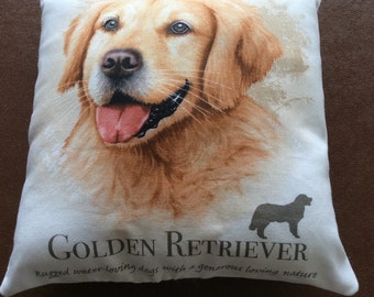 Golden Retriever mini cushion