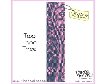 Peyote bracelet Pattern: Two Tone Tree - INSTANT DOWNLOAD pdf - Special savings with coupon codes