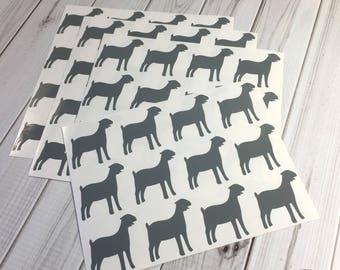 Goat Stickers, 56, Goat Envelope Seals, Goat Sticker Set, Goat Planner Stickers, Goat Envelope Stickers, Goat Decals, Goat, Party stickers