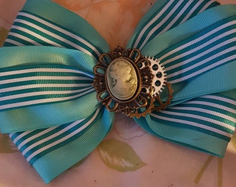 Lolita Steampunk cameo green stripe.
