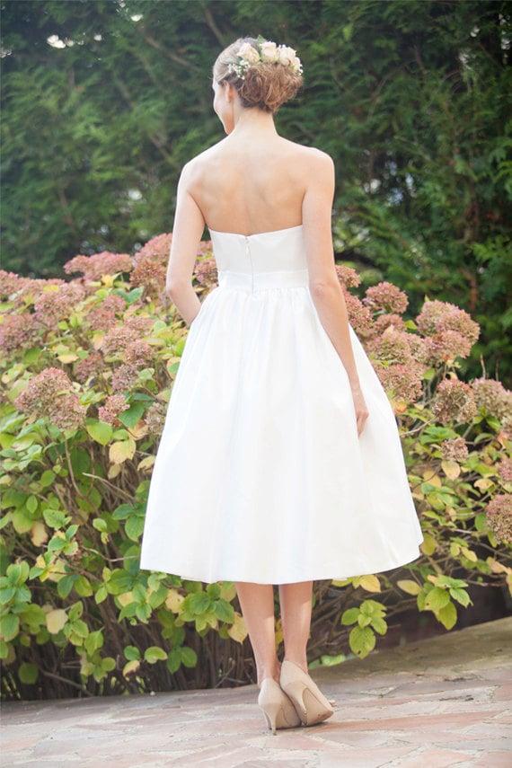 Tee Länge Hochzeitskleid / 50er Jahre retro Kleid /