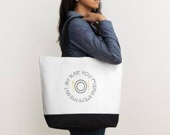 Real Housewives of Orange County inspired Tote Bag - This ins't my plate you f*cking b*th!