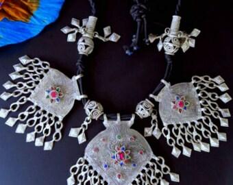 LARGE KUCHI NECKLACE - Vintage Tribal Jewelry from Kashmir
