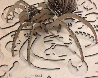 Puzzle Tarantula - laser cut