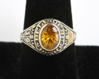 1980 10K Solid Gold Ring - Belvidere High School Class Ring, Vintage Size 9 - 5.9 grams