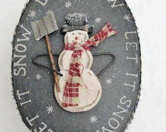 Snowman gift box, snowman trinket box, snowman box