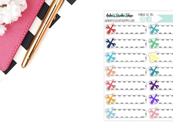 Multicolored or Black Car Repair Maintenance Boxes Planner Stickers
