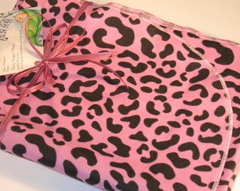 Extra Large - Pink Lilac Cheetah Print Flannel Receiving Blanket- Receiving Blanket, Pink Receiving Blanket, Pink Baby Blanket