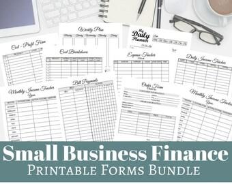 Small Business Finance Printable Planner PDF Pack - Business Finance Help, Finance Organizing