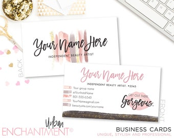 Beauty business cards brush strokes makeup beauty business beauty business cards brush strokes makeup beauty business materials makeup artist bundle colourmoves Image collections