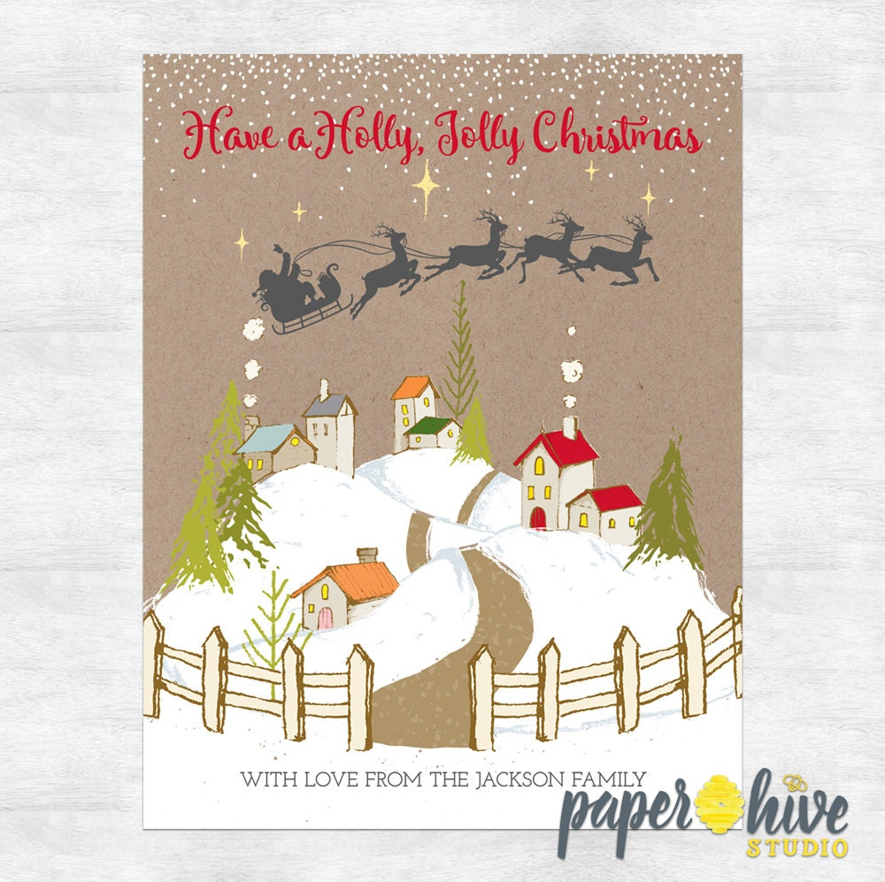 zoom - Rustic Christmas Cards