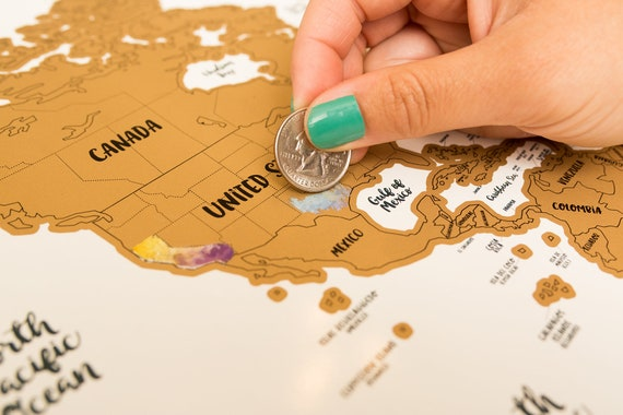 Travel gift world map w us canadian and australian state gumiabroncs Image collections