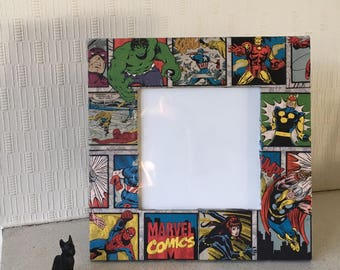 Marvel Superheroes Decoupage Picture Frame