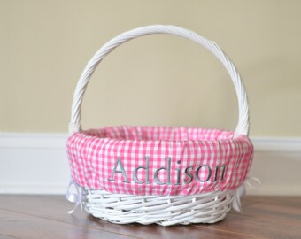 Easter basket liner etsy easter basket liner custom basket liner gingham easter basket liner free personalization negle Gallery