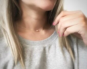 Collier de perles, collier, cadeau de demoiselle d'honneur, Simple collier de perles, collier délicat, collier de perles d'eau douce, collier de mariage
