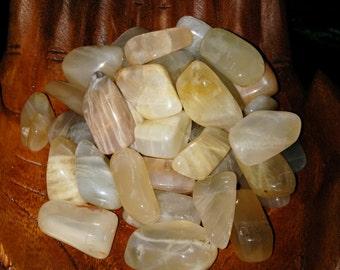 Natural Moonstone Tumbled goddess energy / feminine divine