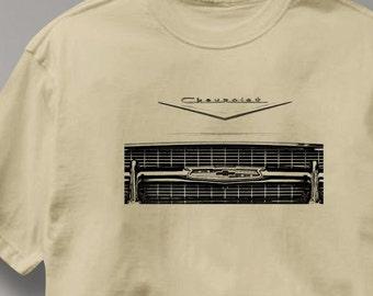 Chevy Bel Air 1957 Grill Vignette Chevrolet T Shirt Auto Tee Shirt Mens Womens Ladies Youth Kids