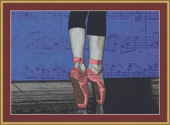 Ballet Shoes Cross Stitch Pattern /Digital PDF Files /Instant downloadable
