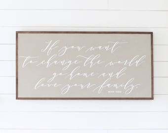 LOVE YOUR FAMILY, Painted wood sign - S,M,L Sizes available  | Wall decor (Rustic Chic, Modern Farmhouse, Fixer Upper)
