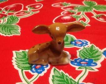 Vintage hand painted fawn or baby deer figurine- Japan