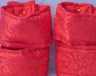 Brocade Wrist and Ankle Restraint Set:  Red Floral